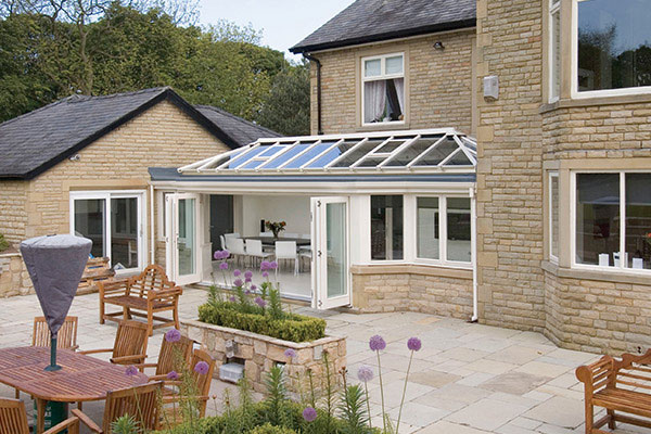 Cream Orangery with Bi-Fold Doors